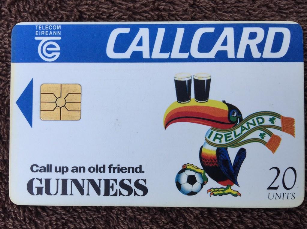 telecom eireann ireland pre pay phone call cards world cup 1994 - Payphone Calling Cards