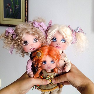 Bouquet from dolls