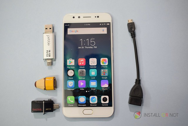How to use USB OTG and monitor storage on Vivo V5 Plus?
