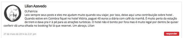 Recomendação hotel Coimbra