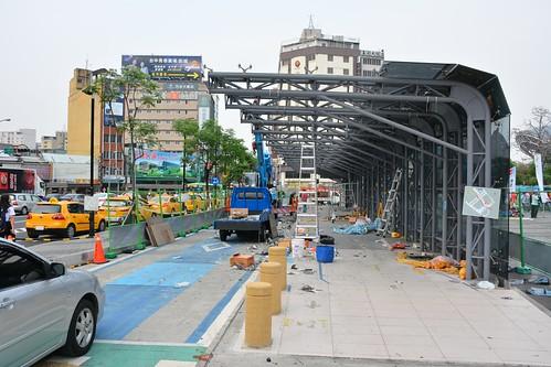 台中BRT A01臺中火車站拆除