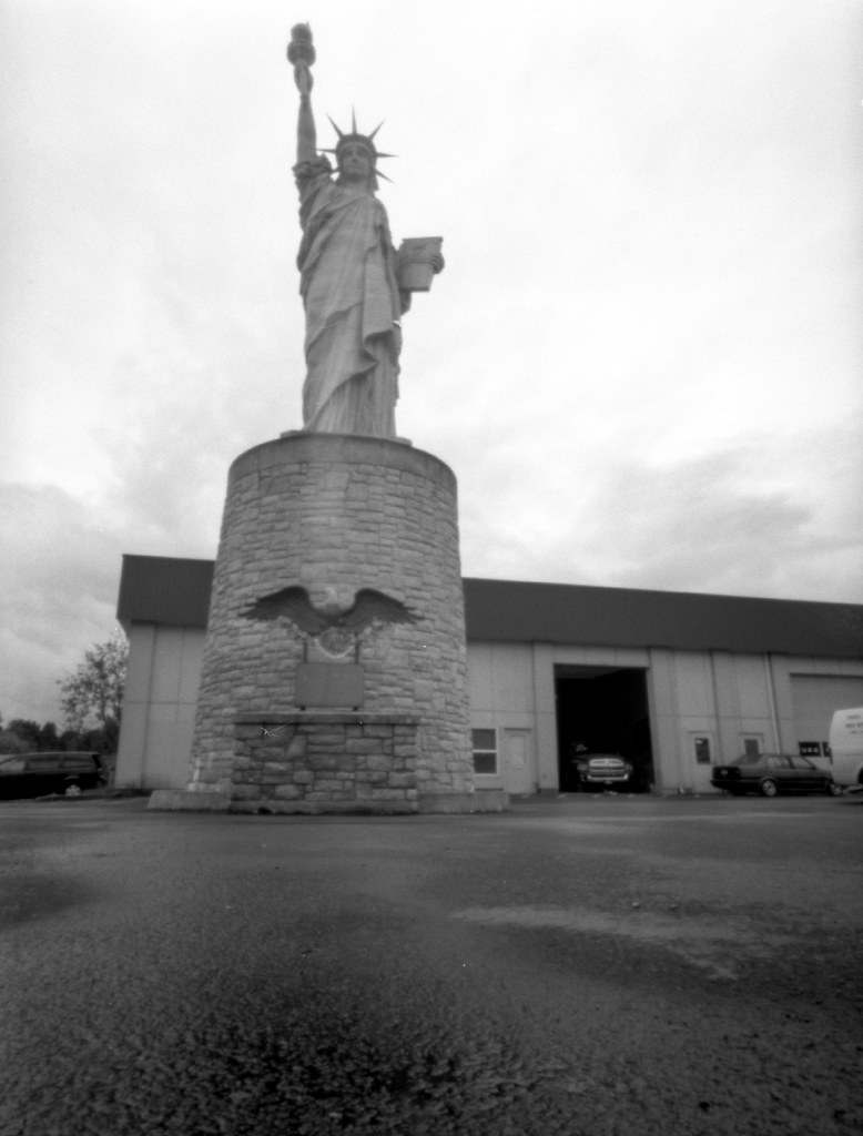 That weird statue of liberty in Clackamas