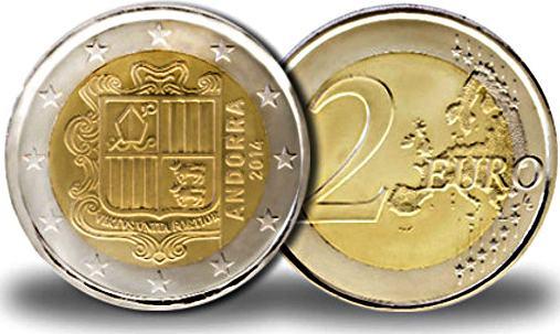 2 Euro Andorra 2014, obehová