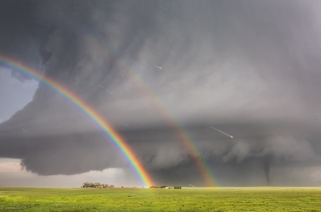 Source  C B Double Rainbow With Tornado Simla Colorado Explored Flickr