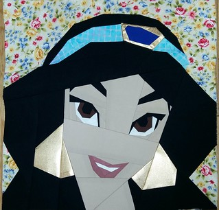 Jasmine. Paper pieced. Fandom in Stitches