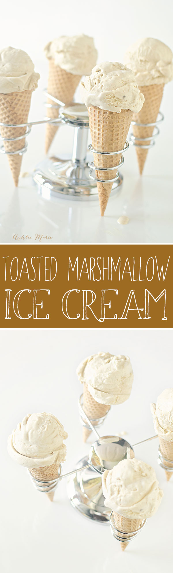 two of my favorites in one - toasted marshmallows and ice cream.  It is kind of messy to make but the taste is to die for