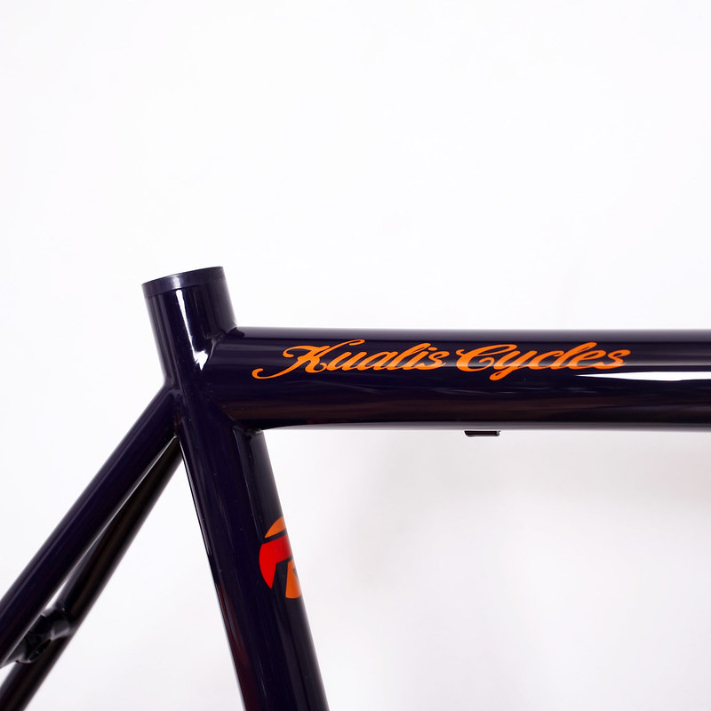 Kualis Cycles Steel Frame & Enve Fork Painted by Swamp Things