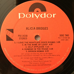 ALICIA BRIDGES:ALICIA BRIDGES(LABEL SIDE-B)