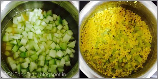 Chow Chow Pepper Kootu -step 1