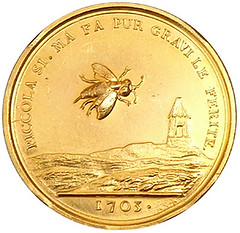 GOLD BEE-R medal reverse