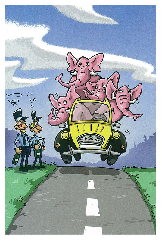 Countries - France - humor - pink elephants
