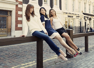 Hannah Grennell, Mariko Saski and Isabella Gasparini of The Royal Ballet wearing shoes from Cocorose London's exclusive Royal Ballet Collection of foldable ballet pumps | by Royal Opera House Covent Garden