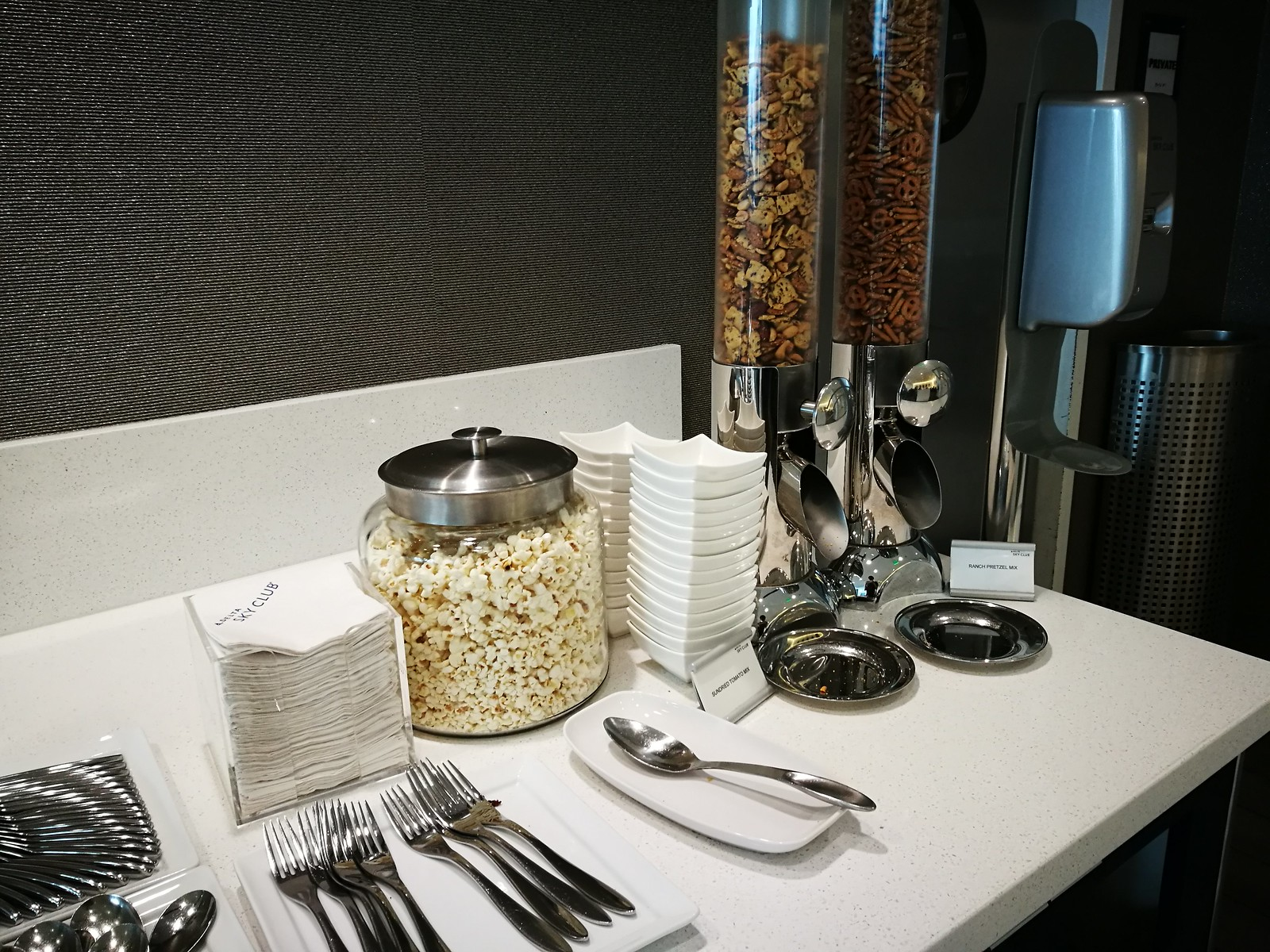Mixed nuts and popcorn