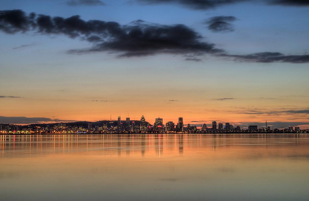 Sunset on montr al canada coucher de soleil sur - Coucher de soleil montreal ...