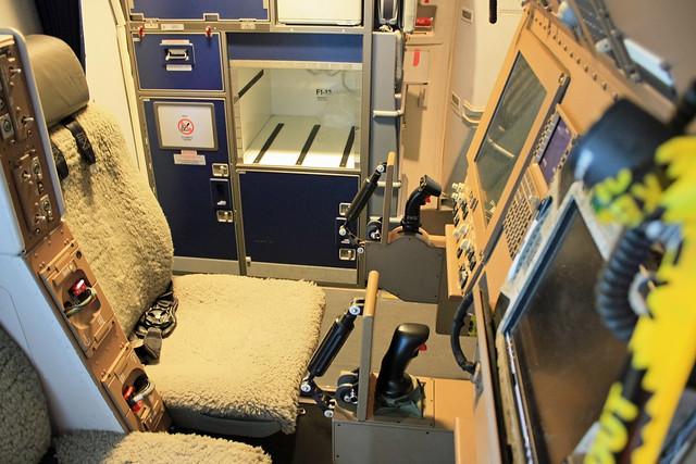 KC-767 87-3601 機内 給油ブーム オペレーター席
