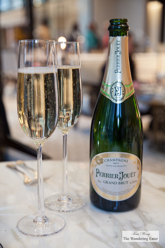 Glasses of Perrior-Jouët Grand Brut Champagne
