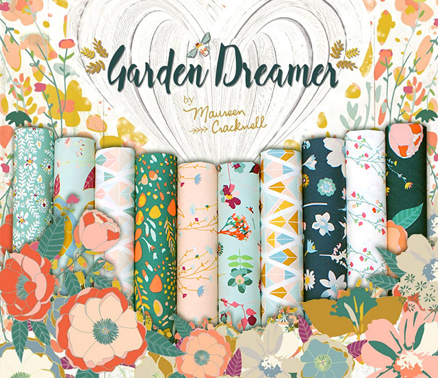 Art Gallery Fabrics Garden Dreamer Collection by Maureen Cracknell