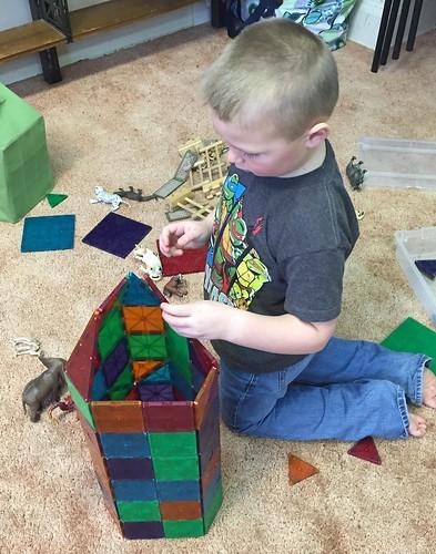 a hexagonal tower