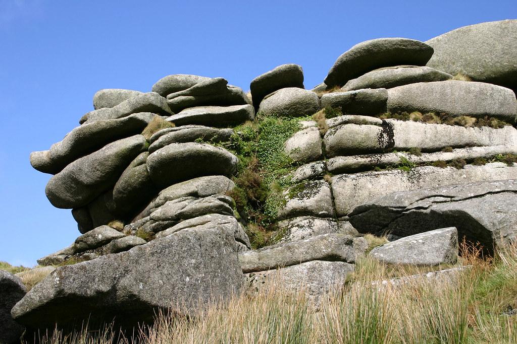 Tor Roughtor Bodmin Moor Cornwall England A Granite