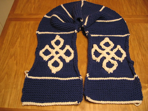 Viking cross scarf | by thomasina