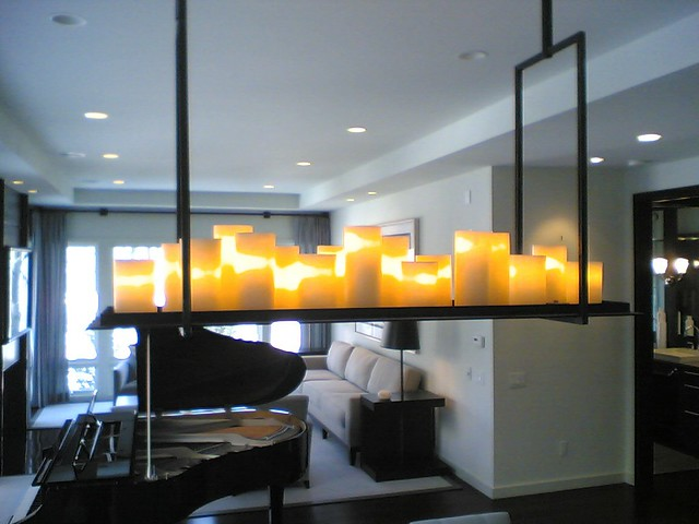 chandelier of candles by Kevin Reilly for Holly Hunt a br – Chandelier with Candles