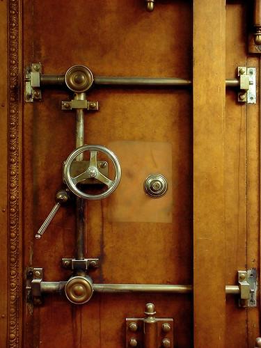 Old walk in safe the door of an old walk in safe inside for Walkin safe