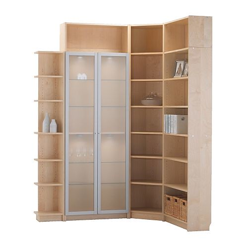 Corner Bookcase From Ikea Pair Of Glass Doors Stile