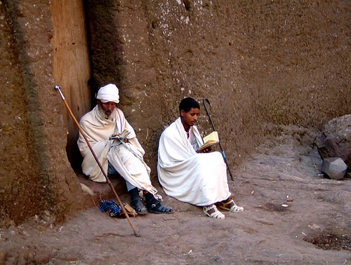 monks-in-white-reading_Lalibela | by mexikids