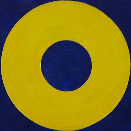 "squared circle - from edward ruscha's ""oof"", moma, new york 