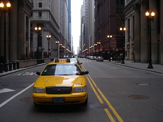 Chicago street and Taxi | by choffee