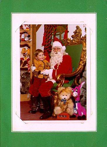 With Santa 1973 | by Davin Risk