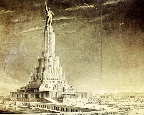 Palace of Soviets. O.Iofan, O.Gelfreikh, V.Schuko. Sculptor S.Merkulov. A Version of the approved project. 1934 | by fortinbras