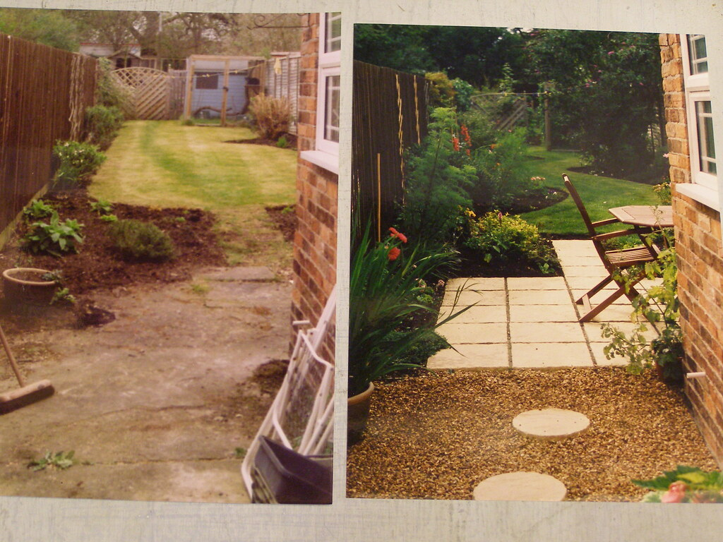 long thin garden - before and after makeover ......t43(Goy ...