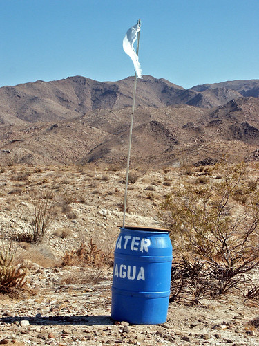 Water can for use by Mexican immigrants entering the US by walking across the Anza-Borrego desert. | by Robin Dude