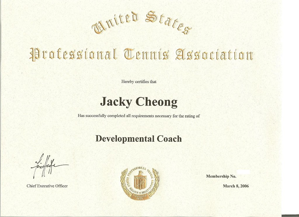 USPTA Developmental Coach | Developmental Coach certificate … | Flickr