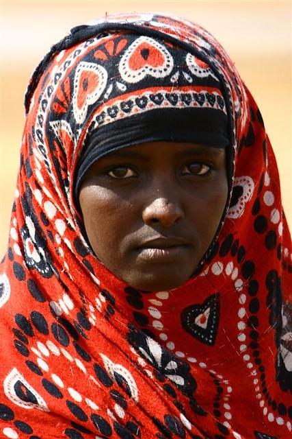 Afar Tribe Girl In Danakil Desert, Eritrea  The Region -4851