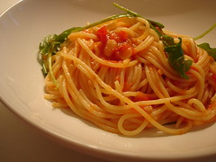 Spaghettini with Tomato Sauce and Rocket | by su-lin