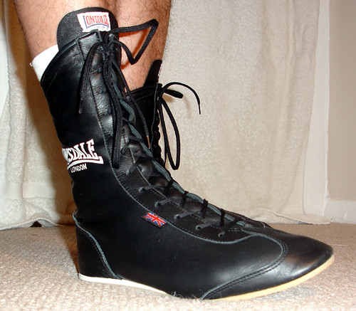 Lonsdale Black Leather Shoes