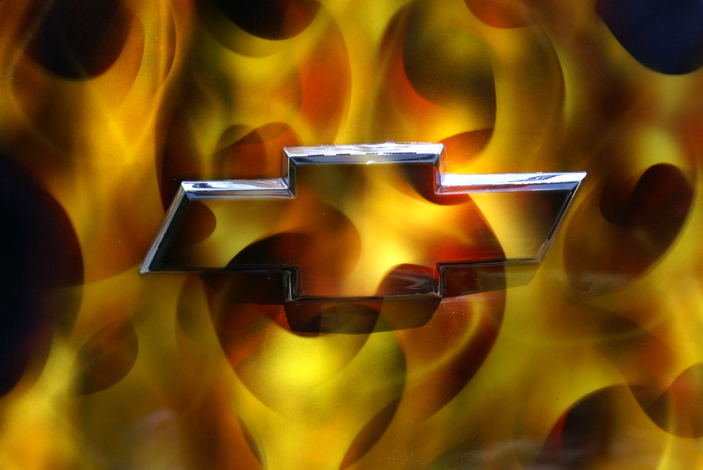 Flaming Chevy Logo | This is acutally a paint job, it ...