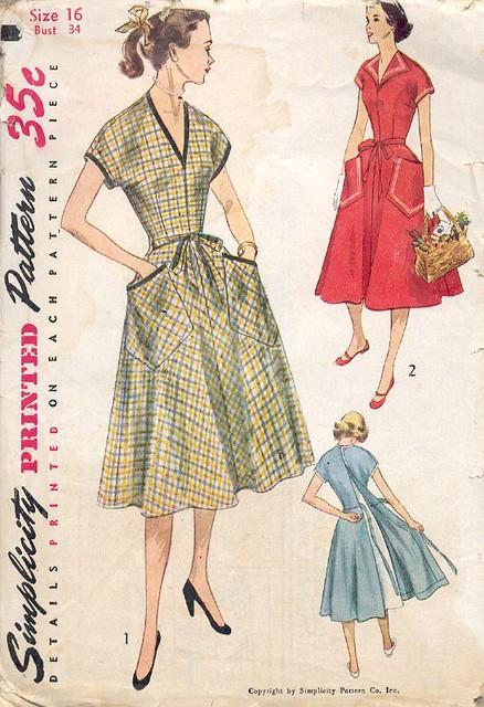 Vintage Wrap-Dress Pattern- 1952 - I love wrap dresses. This… - Flickr
