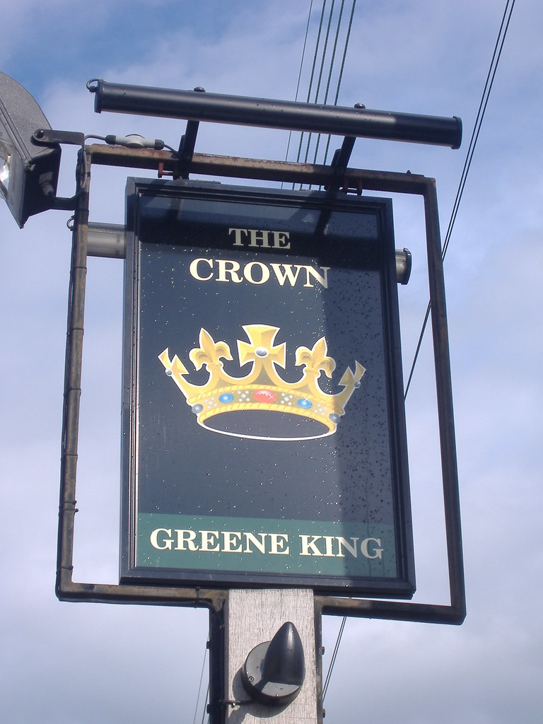 the crown greene king pub sign the crown acton suffolk. Black Bedroom Furniture Sets. Home Design Ideas