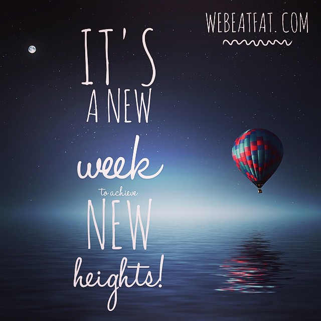 It's a new week filled with new possibilities. It's time to start anew and set new goals! What are you going to achieve this week? #motivation #motivationmonday #fitfluential #fitness #weightloss #webeatfat #sweatpink