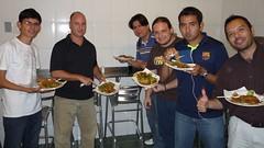 Esaú, Flavio y amigos en Monterrey