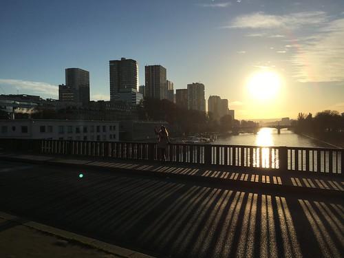Coucher de soleil depuis le pont de Bir-Hakeim