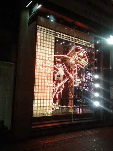 Neon Dino Near Regent Street