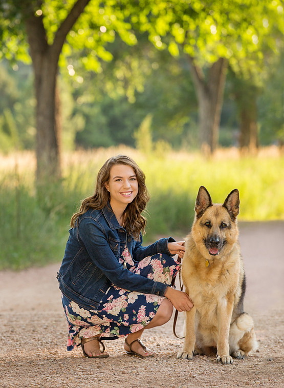 Photographers Senior Portraits Rock Ledge Ranch Dog