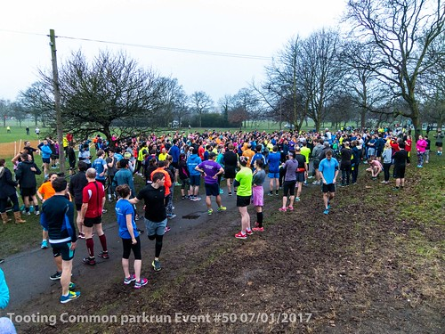 Tooting Common parkrun event #50 07/01/2017