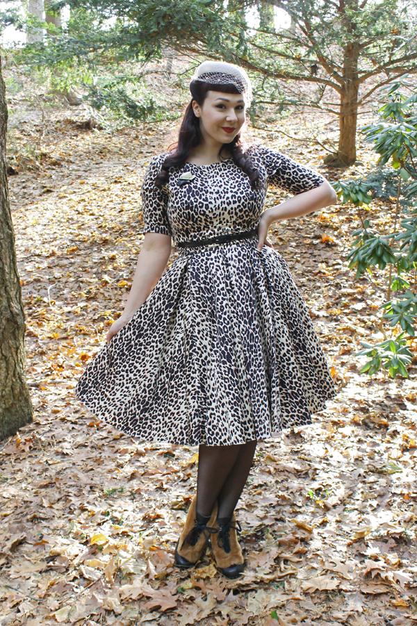 rockabilly pinup leopard dress