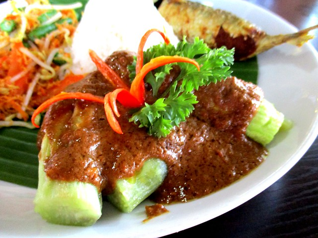 Terung bakar with special curry gravy