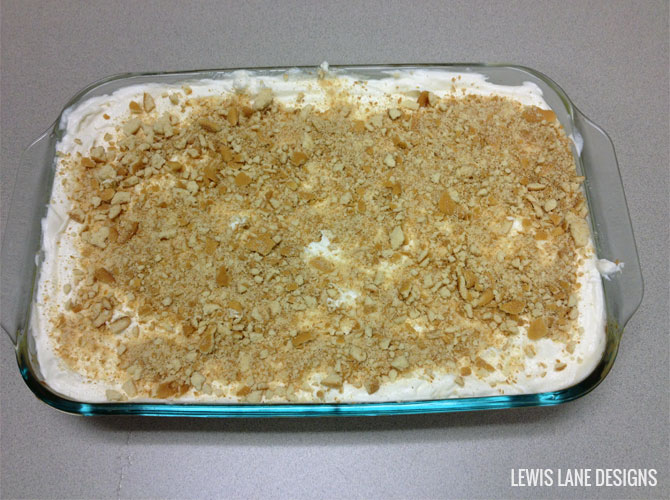 Banana Pudding Poke Cake by Lewis Lane